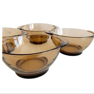 Vtg Duralex Glass Bowls Durable Glass Set Of 4